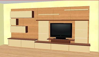 plan 3d meuble contemporain