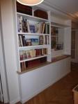 bibliothèque sur mesure finition peinture