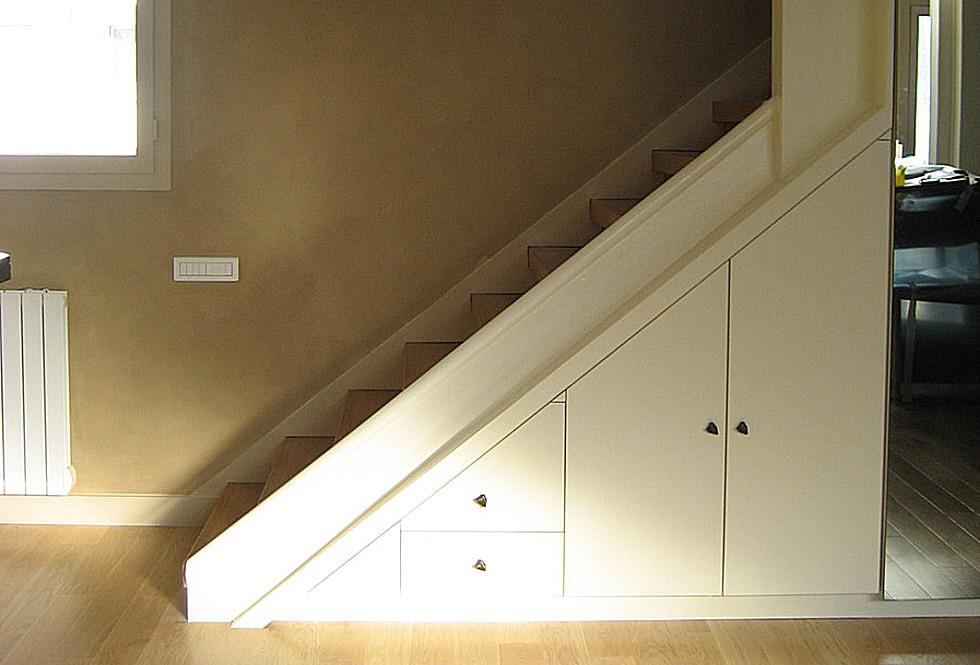 meubles sous escalier sous pente